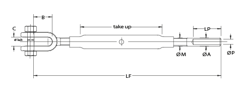 Persbare spanschroeven - verzinkt staal E 36-3 vrijstaand