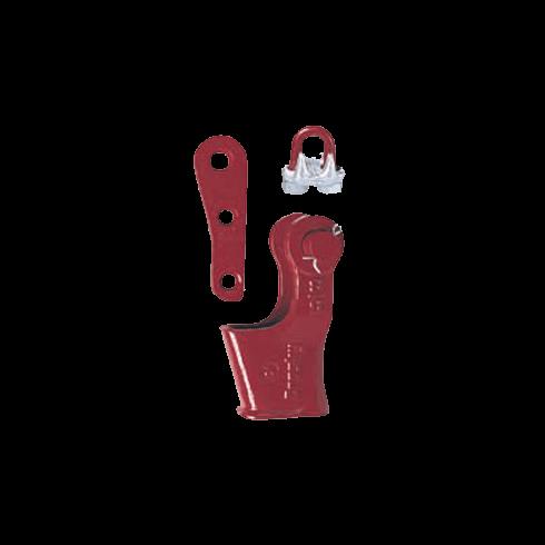 Kabelschoen met spie S 421 T - CROSBY vrijstaand transparant