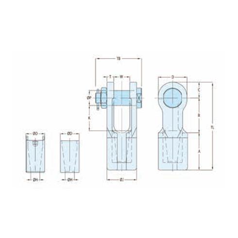 Fast connector sockets met bout en moer vrijstaand 2