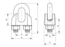 Kabelklem EN 13411-5 Type A vrijstaand 2