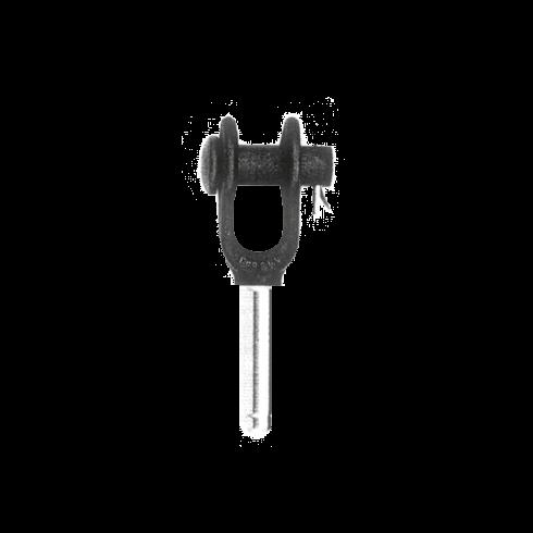 Gaffel persterminal S-501 vrijstaand transparant